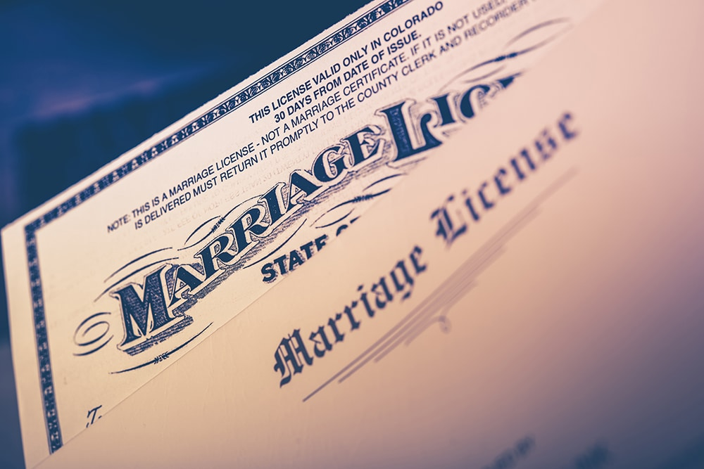 How to Get a Marriage License | Vintage Gardens Wedding